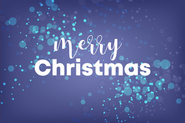 Blauer Hintergrund - merry christmas