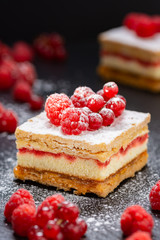 Cake with red fruits