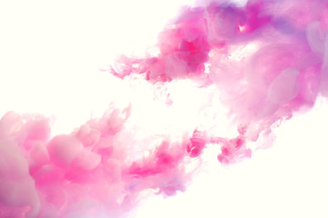 Abstract pink ink background