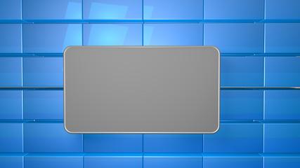 Wall Mural - blue tile modern background copy space 3d render