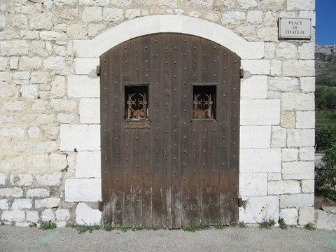 Medieval wooden door in Provence