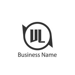 Initial Letter VL Logo Template Design