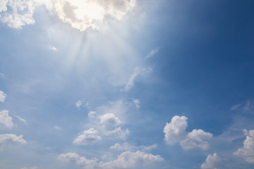 Blue sky background and clouds