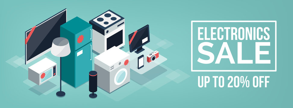 Electronics and appliances promotional sale