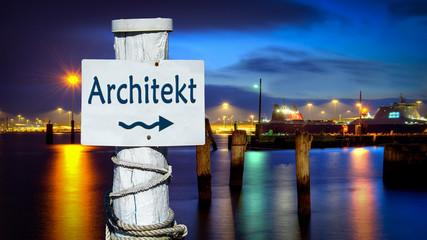 Schild 386 - Architekt