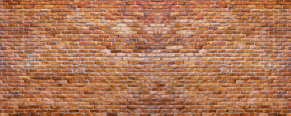 Panorama Vintage Brick Wall Background