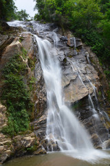 Mae Tia Waterfall in  Ob Luang National Park, Chiang Mai, Thailand