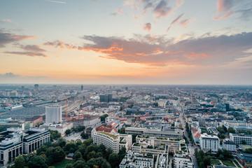 Munich city center Air drone view summer urban photo