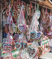oktoberfest gingerbread hearts in munich