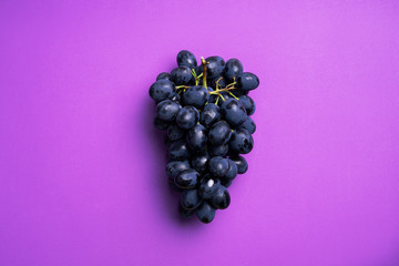 Dark blue grapes