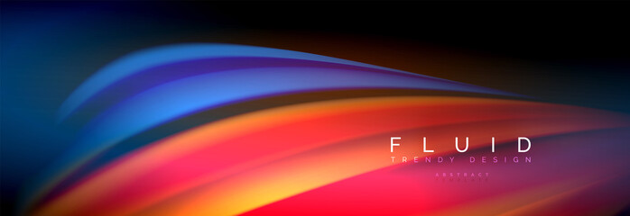 Fluid color wave line background. Trendy abstract layout template for business or technology presentation, internet poster or web brochure cover, wallpaper