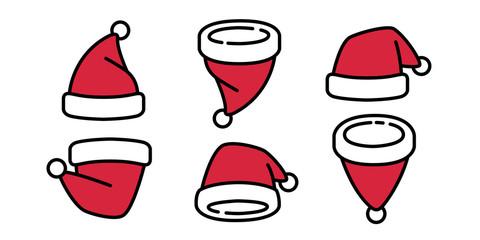 Christmas Hat vector Santa Claus Xmas cartoon character illustration