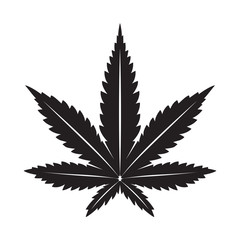 Marijuana vector cannabis leaf weed icon logo illustration clip art graphic black