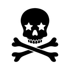 pirate skull vector Halloween star icon logo bone ghost skeleton illustration clip art graphic
