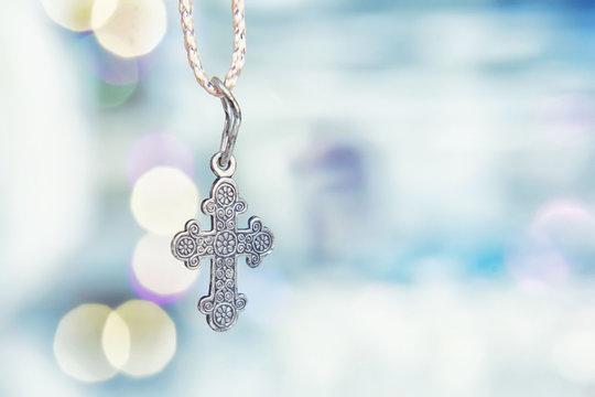 Religion. Christian cross background.