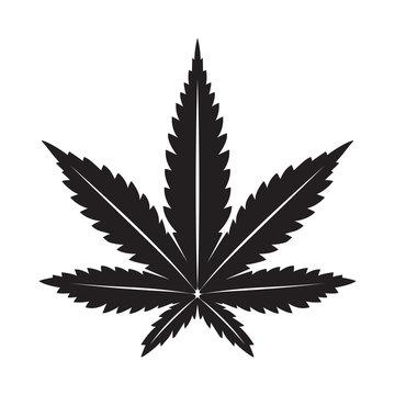 Marijuana vector cannabis leaf weed icon logo illustration clip art graphic black