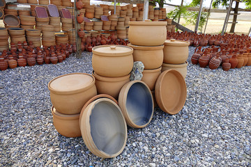 Turkey Anatolia water jug types, clay pots and casserole dishes made of clay,