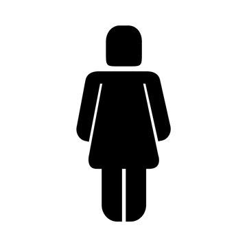 woman standing figure female pictogram