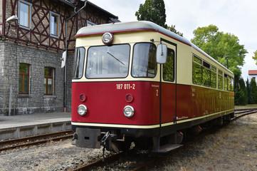 Triebwagen in Harzgerode