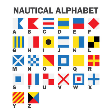Set of Maritime Signal Flags.