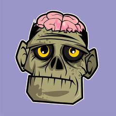 Vector character design - zombie head