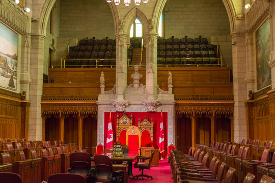 The Senate of Parliament Building, Ottawa, Canada.