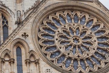 Rosenfenster am York Minster, England