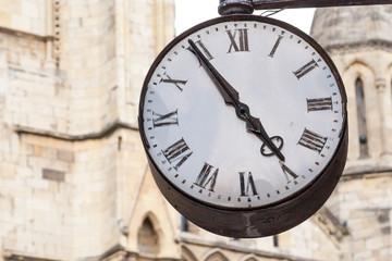 Alte Uhr am Minster in York, England