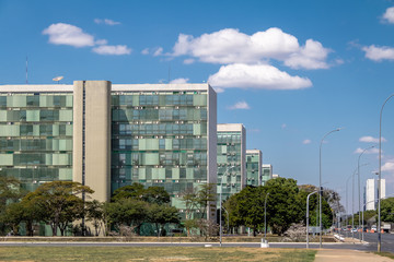 Ministry buildings at Esplanade of the Ministeries (Esplanada dos Ministerios) - government departments offices - Brasilia, Distrito Federal, Brazil