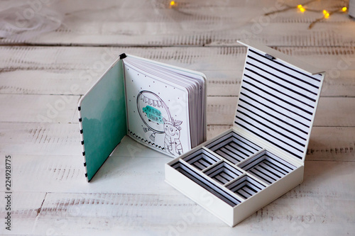 Handmade Gift Box For Nice Little Things Stock Photo And Royalty