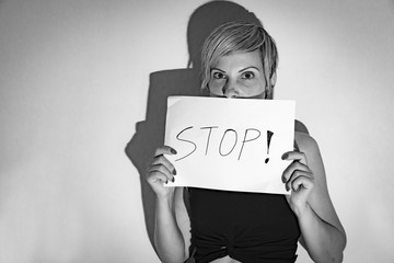 woman for stoping the violence