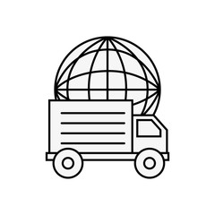 truck delivery world online shopping logistic