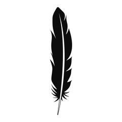 Floating feather icon. Simple illustration of floating feather vector icon for web design isolated on white background