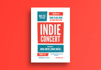 Indie Concert Flyer Layout