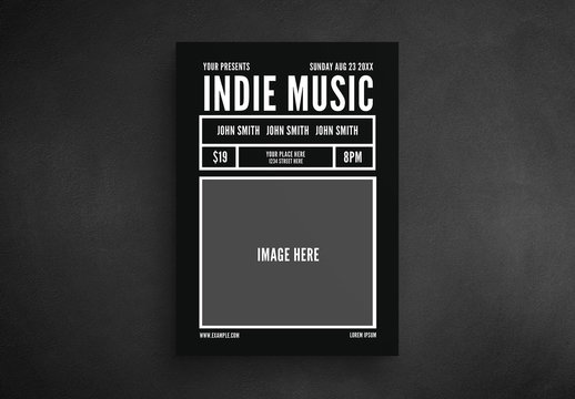Indie Music Event Flyer Layout