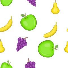 Fruit pattern. Cartoon illustration of fruit vector pattern for web