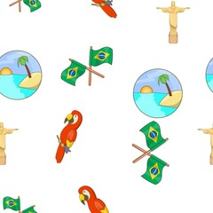 Brazil pattern. Cartoon illustration of Brazil vector pattern for web