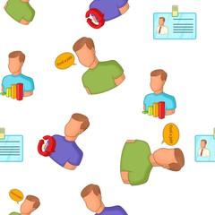 Team pattern. Cartoon illustration of team vector pattern for web