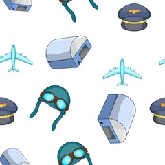 Air transport pattern. Cartoon illustration of air transport vector pattern for web