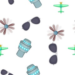 Aircraft pattern. Cartoon illustration of aircraft vector pattern for web