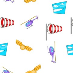 Flying vehicles pattern. Cartoon illustration of flying vehicles vector pattern for web