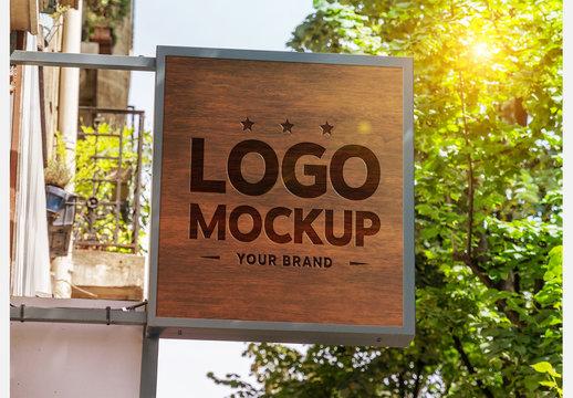 Store Sign Mockup