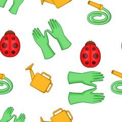 Kaleyard pattern. Cartoon illustration of kaleyard vector pattern for web