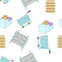 Market pattern. Cartoon illustration of market vector pattern for web