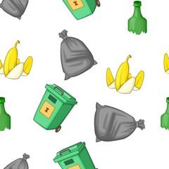 Waste pattern. Cartoon illustration of waste vector pattern for web