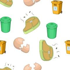 Trash pattern. Cartoon illustration of trash vector pattern for web