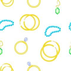 Jewelry for women pattern. Cartoon illustration of jewelry for women vector pattern for web