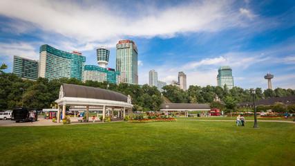 Table Rock with fallsview hotels and resorts at Niagara Falls