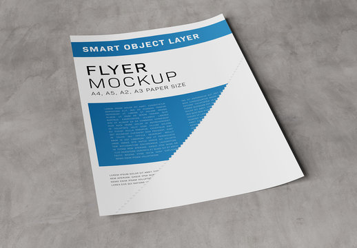 Paper on Concrete Mockup