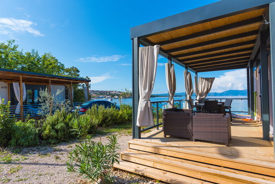 family vacations in bungalows at the campsite